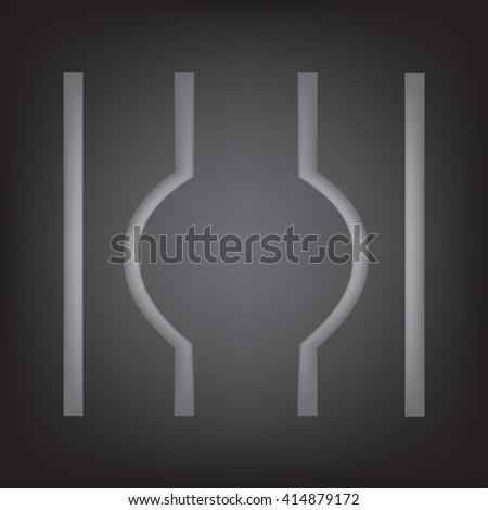 escaped from prison symbol, vector illustration  - stock vector