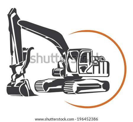 Escavator  - stock vector
