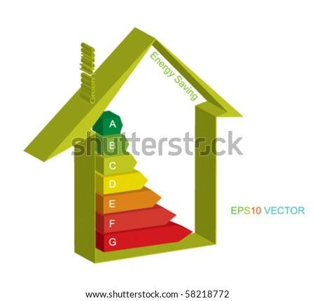 ESP 10 Vector energy house - stock vector
