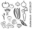 ESP10 - Vegetable Set - Vector - stock vector