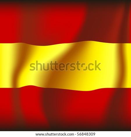 espanol / spanish flag vector illustration - stock vector