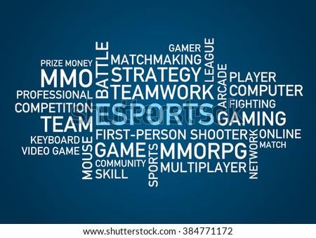 eSports words - stock vector