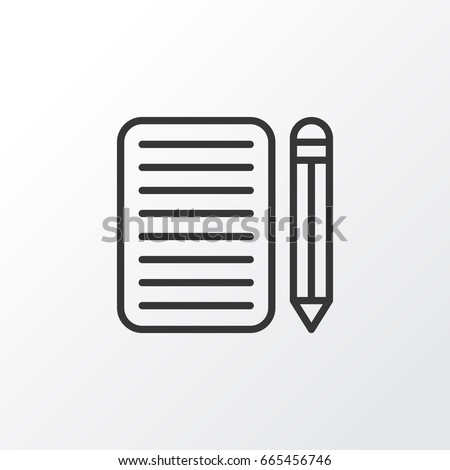 essay stock images royalty images vectors shutterstock essay writing icon symbol premium quality isolated home work element in trendy style