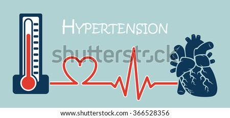 Essential or Primary Hypertension - stock vector