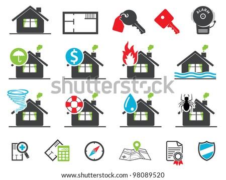 Estate icons - stock vector