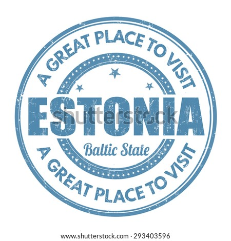 Estonia grunge rubber stamp on white background, vector illustration