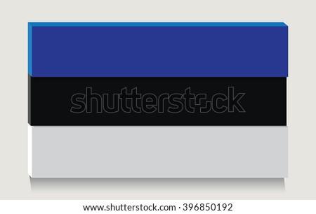 Estonian flag as art object.Vector illustration. - stock vector