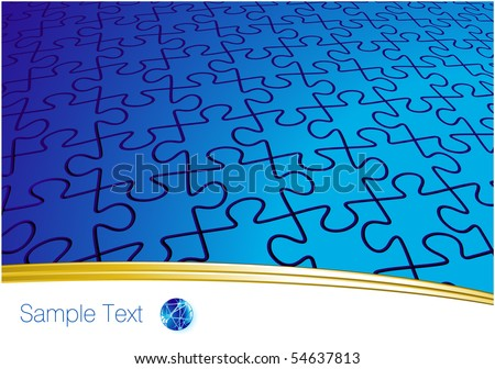 Eternal puzzle. Vector template. - stock vector