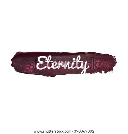 Eternity vector word hand drawn illustration icon card isolated quote - stock vector