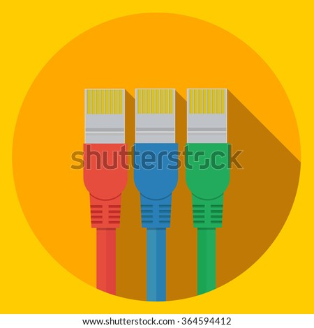 ethernet cable icon - stock vector