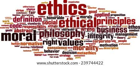 Ethics word cloud concept. Vector illustration - stock vector