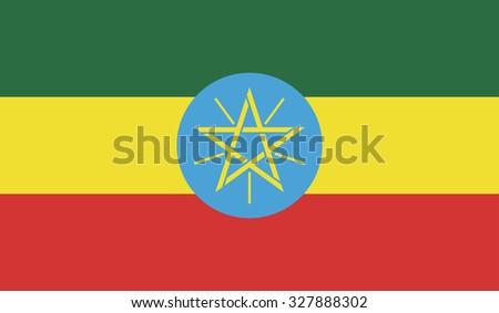 Ethiopia flag - stock vector