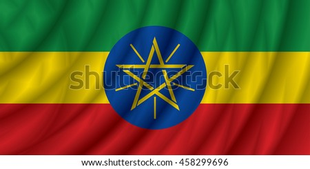 Ethiopia flag vector illustration.