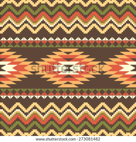 Ethnic abstract seamless pattern - stock vector