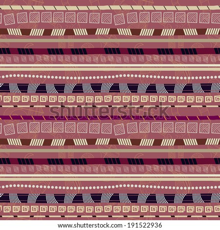 Ethnic abstract seamless pattern with African motives