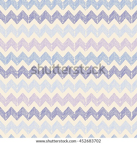 Ethnic boho seamless pattern with zigzag. Print. Repeating background. Cloth design, wallpaper.