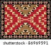 Ethnic Carpet  Pattern Design - stock vector