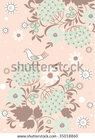 ethnic floral background