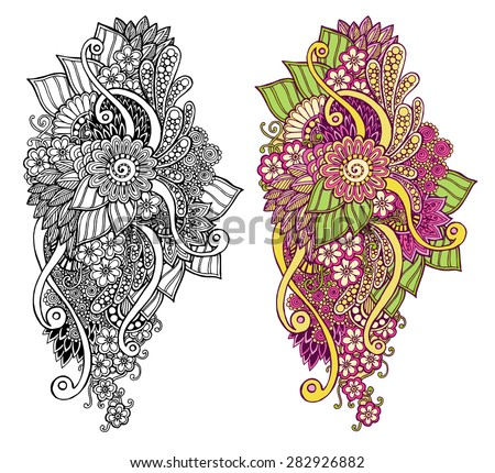 Henna Owl Coloring Pages Henna Paisley Mehndi Doodles