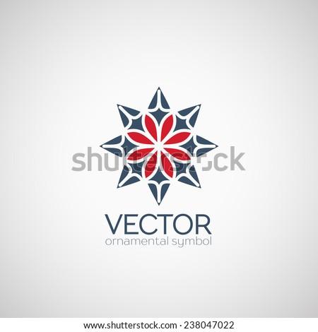 Ethnic logo template design. Vector circular symbol - stock vector