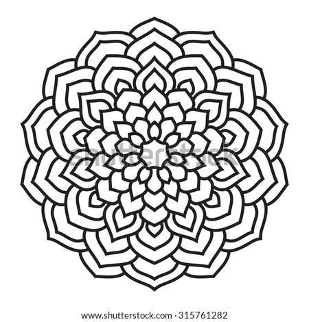 Ethnic ornament. Floral circular mandala. - stock vector