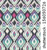 ethnic print vector pattern background - stock vector