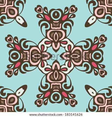 ethnic seamless abstract floral  patten vector - stock vector
