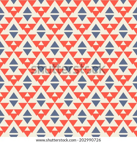 Ethnic seamless pattern. Aztec background. Vector illustration. - stock vector