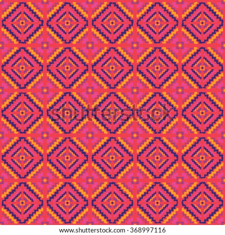 Ethnic seamless pattern. Print. Repeating background. Cloth design, wallpaper.