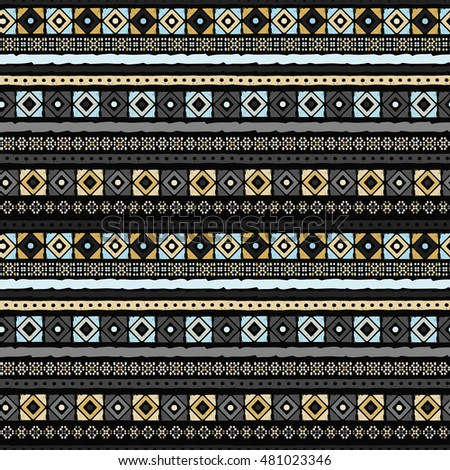 Ethnic seamless pattern. Tribal art. Old abstract background texture. Boho motif. Geometric ornament. Carpet, embroidery