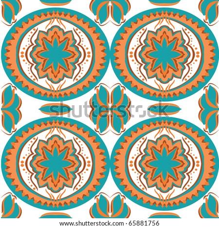Ethnic seamless wallpaper - stock vector
