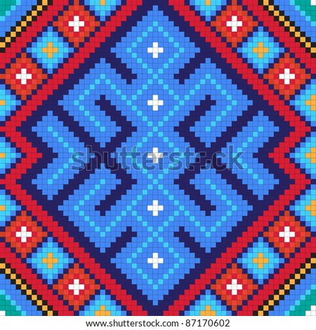Ethnic slavic seamless pattern#10
