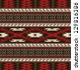 Ethnic traditional native american style textile seamless pattern - stock vector
