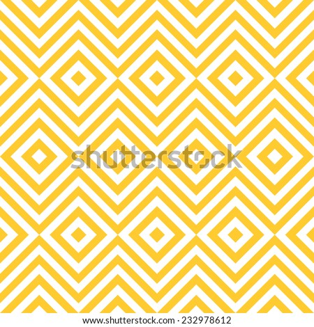 Ethnic tribal zig zag and rhombus seamless pattern. Vector illustration for beauty fashion design. Yellow white colors. Vintage stripe style. - stock vector