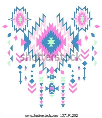ethnic vector pattern background - stock vector