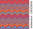 Ethnic zigzag pattern in retro colors,  aztec style  seamless vector background - stock vector