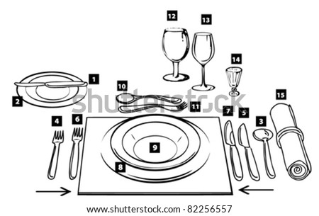 etiquette proper table setting  sc 1 st  Shutterstock : table setting proper - pezcame.com