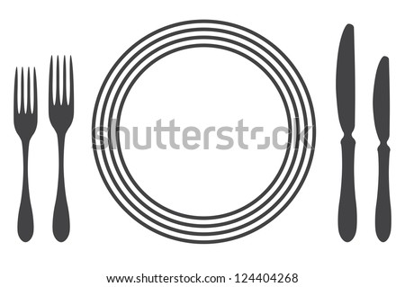 Etiquette Proper Table Setting silhouette  sc 1 st  Shutterstock & Etiquette Proper Table Setting Silhouette Stock Photo (Photo Vector ...