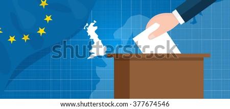 eu british referendum europe union exit britain break vector illustration vector - stock vector