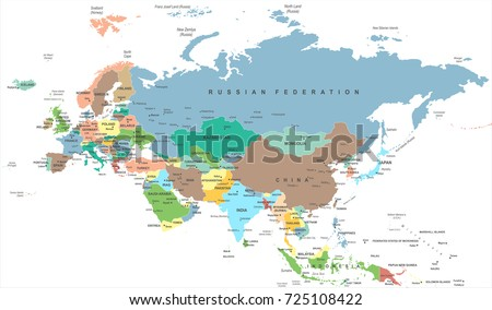 Eurasia europa russia china india indonesia vector de stock725108422 eurasia europa russia china india indonesia thailand map detailed vector illustration gumiabroncs Gallery
