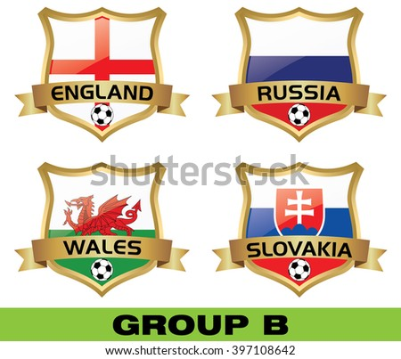 Euro 2016 Group B - stock vector