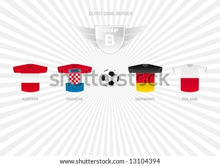 EURO 2008 Series - Group B - stock vector