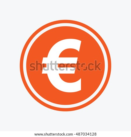 Euro Sign Icon Eur Currency Symbol Stock Vector 487034128 Shutterstock