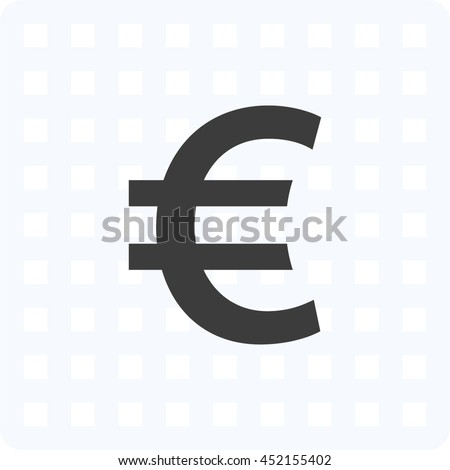 Euro sign icon. Euro currency symbol. Money label.