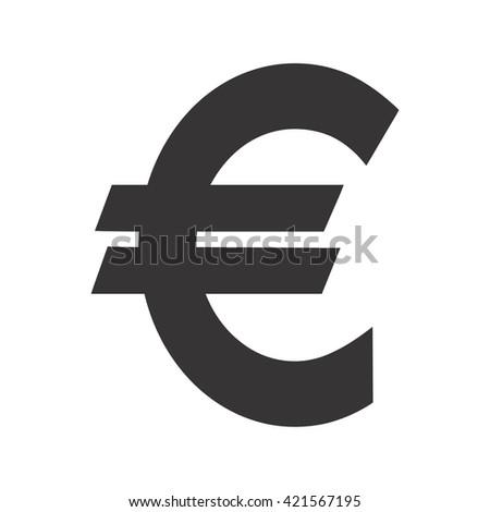 Euro Sign Money Symbol Vector Illustration Stock Vector 421567195