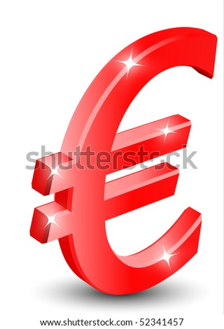 euro stock market collapse - stock vector