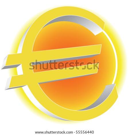Euro vector icon - stock vector