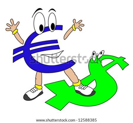 Euro vs. Dollar - stock vector