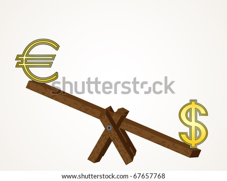 Euro vs Dollar - stock vector