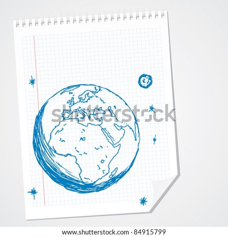 Europe Africa Vector Doodle - stock vector